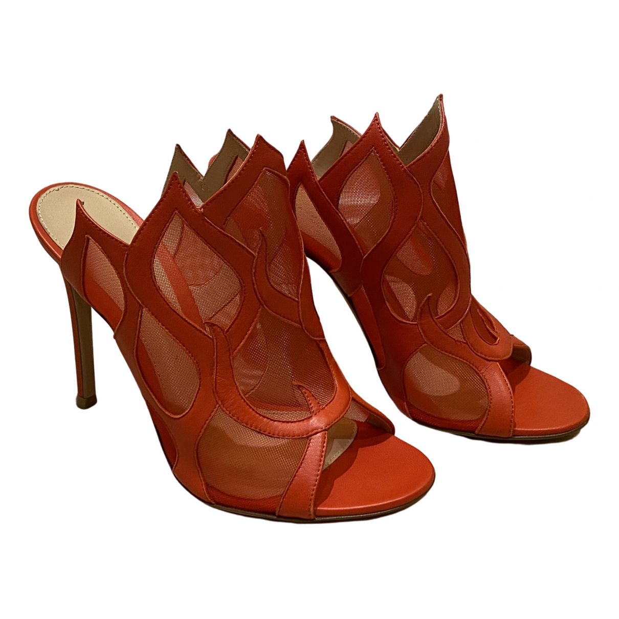 Gianvito Rossi \N Red Leather Sandals for Women 37 EU