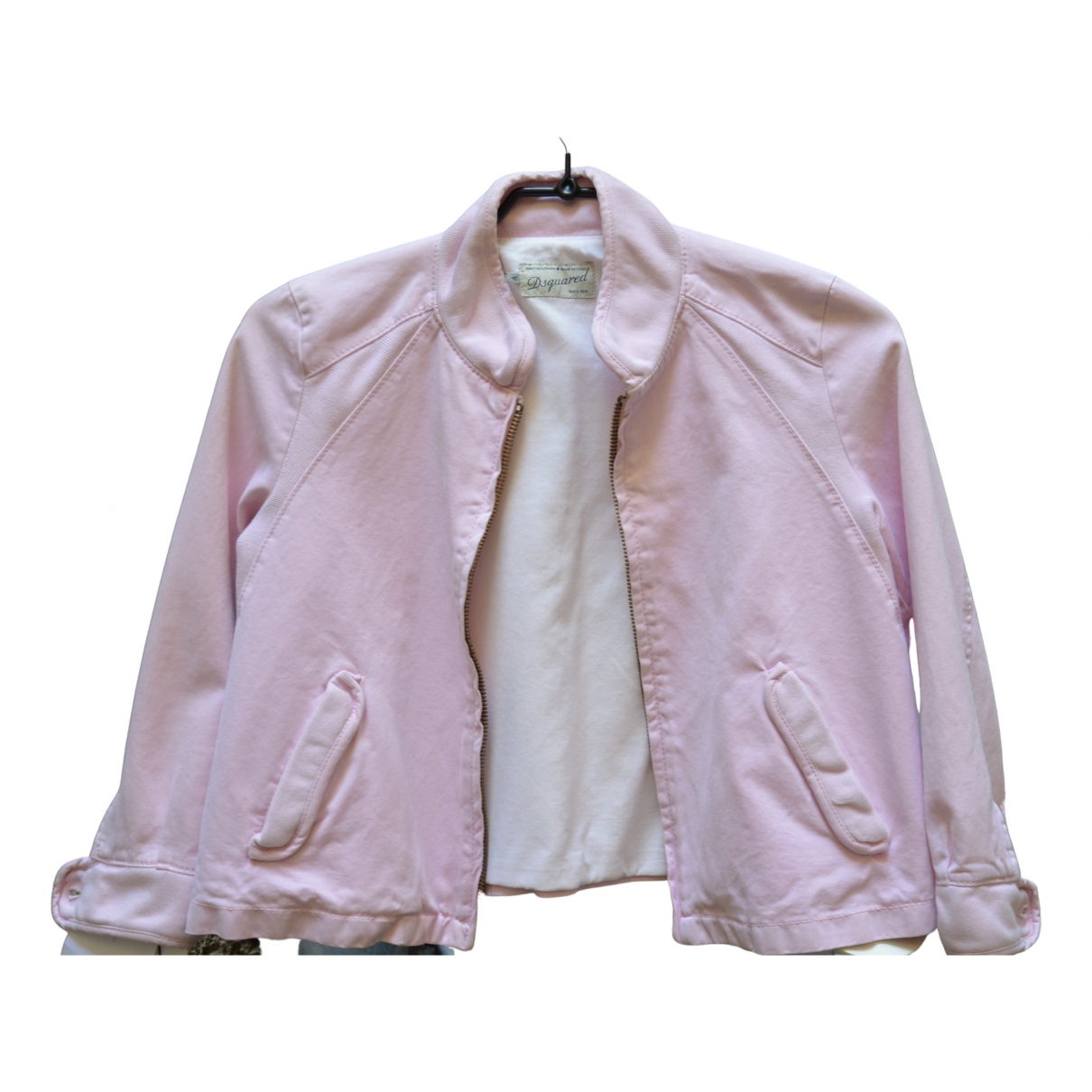 Dsquared2 N Pink Cotton jacket for Women 36 FR