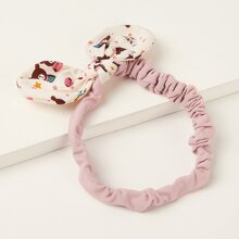 Girls Bear & Star Pattern Bow Knot Headband