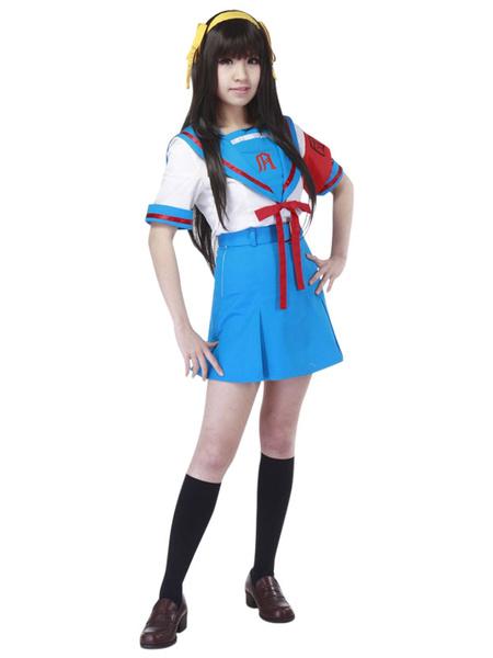 Milanoo The Melancholy of Haruhi Suzumiya Suzumiya Haruhi Halloween Cosplay Costume Seifuku Cosplay