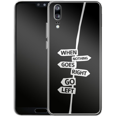 Huawei P20 Silikon Handyhuelle - When Nothing Goes Right von We Make The Cake