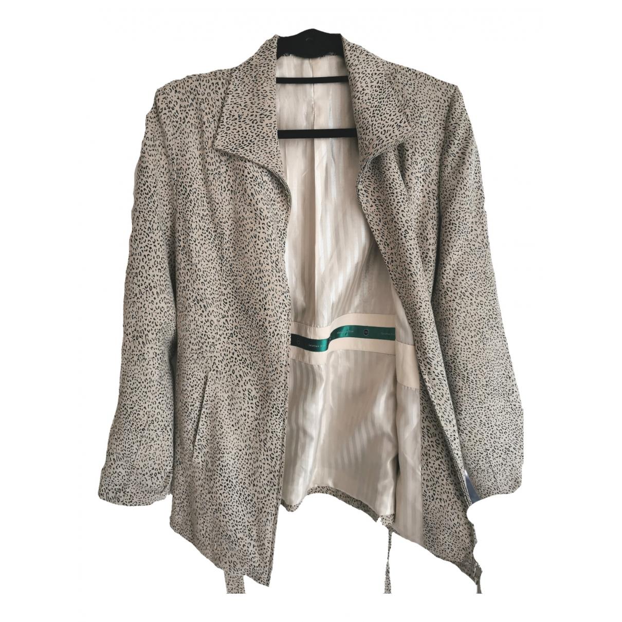 Dior - Veste   pour femme en cuir - beige