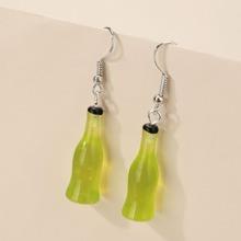 Soda Bottle Charm Drop Earrings