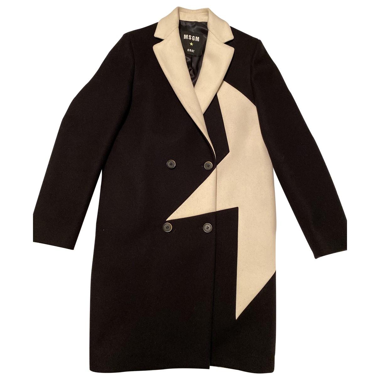 Msgm - Manteau   pour femme en laine - noir