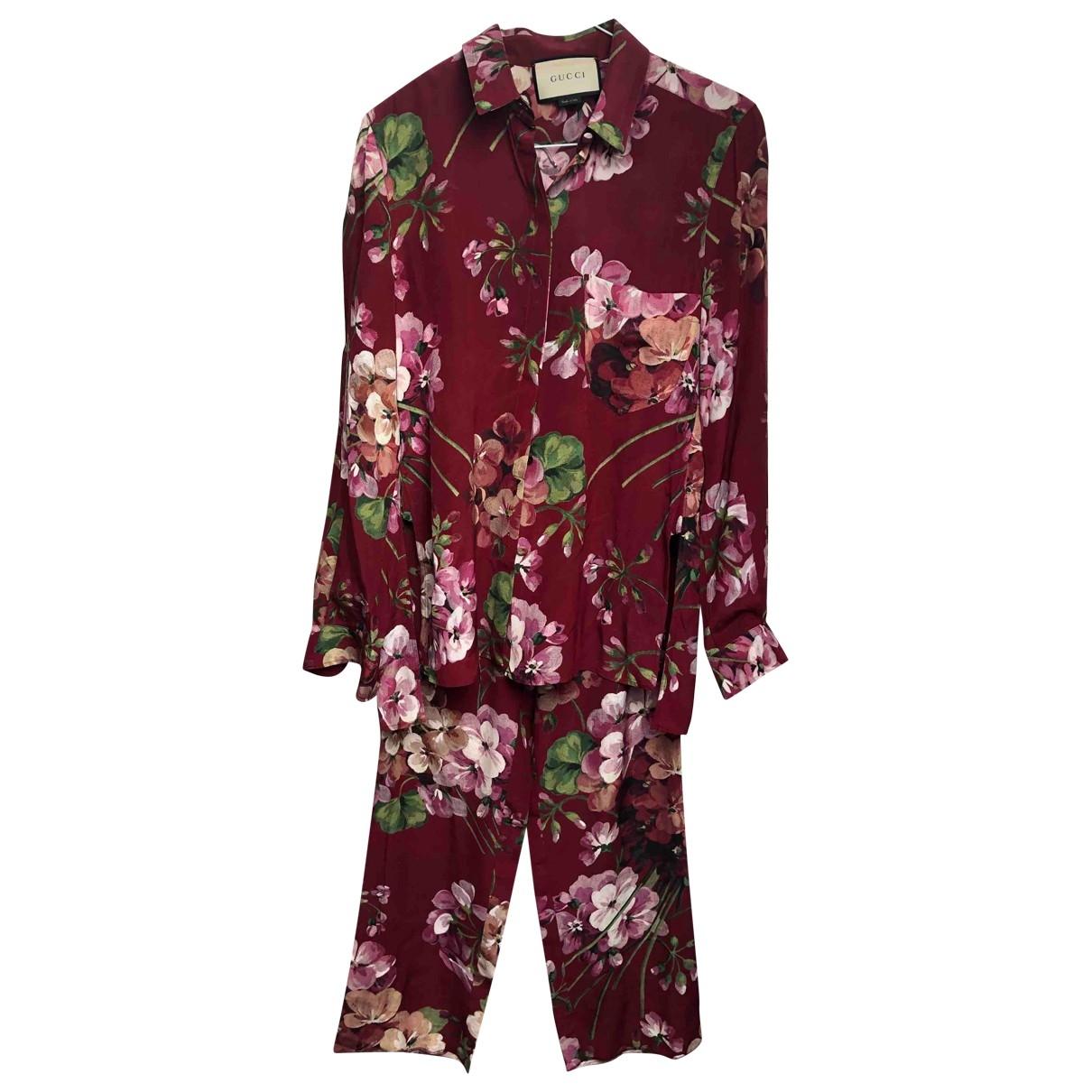 Gucci \N Burgundy Silk  top for Women 40 IT