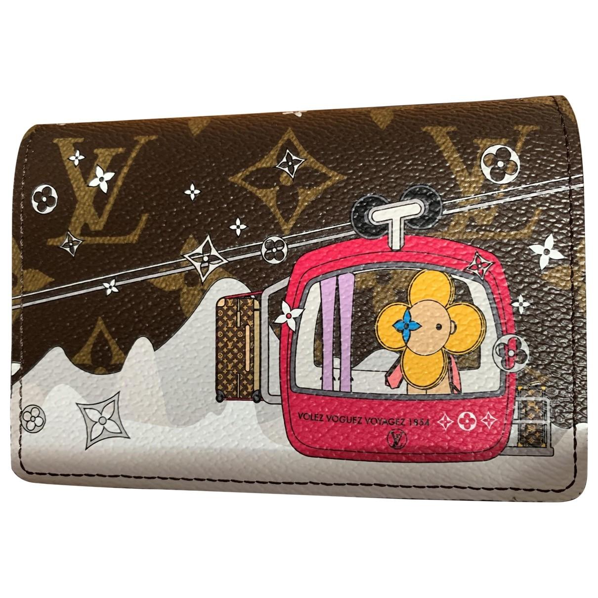 Louis Vuitton Victorine Brown Cloth wallet for Women \N