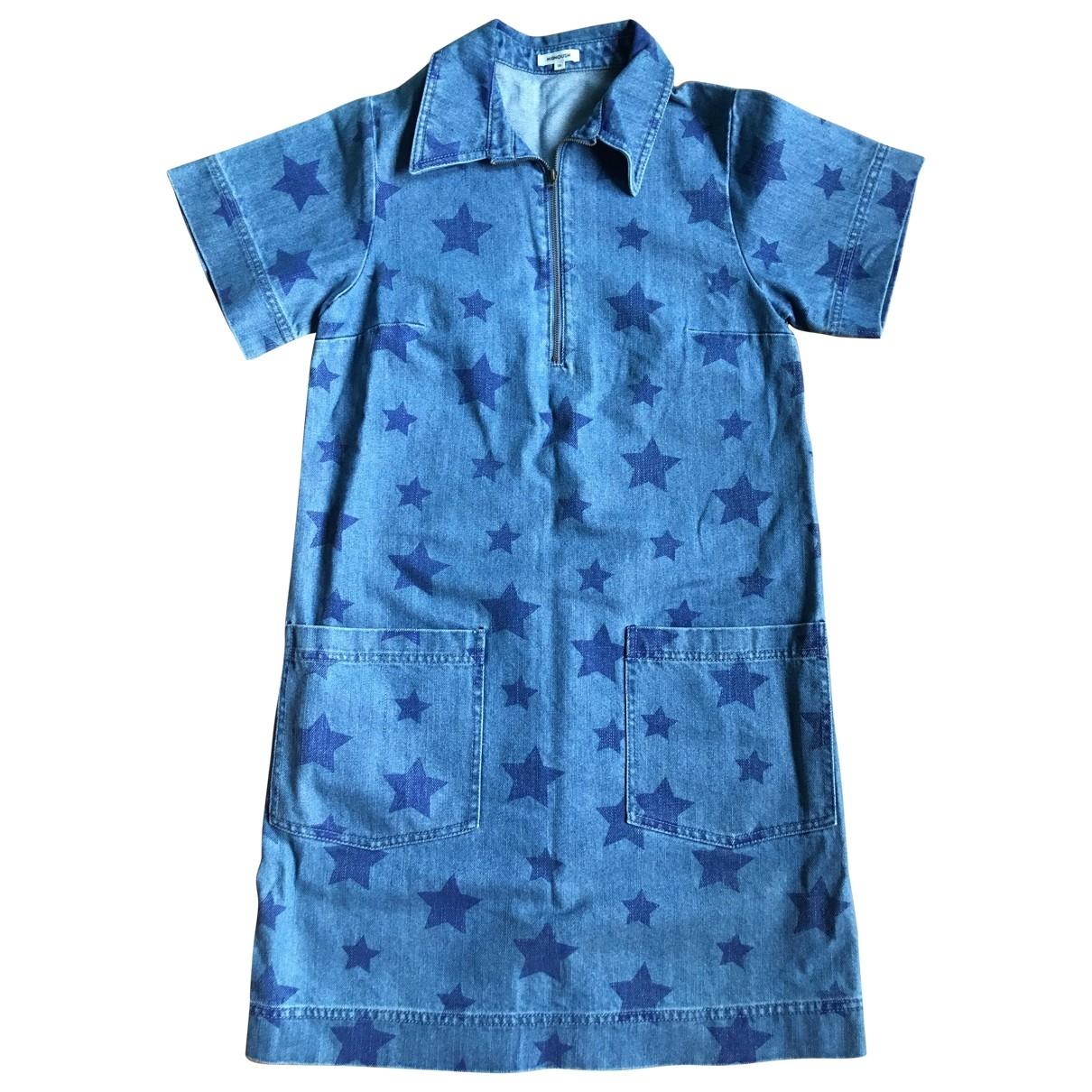 Manoush \N Kleid in  Blau Denim - Jeans