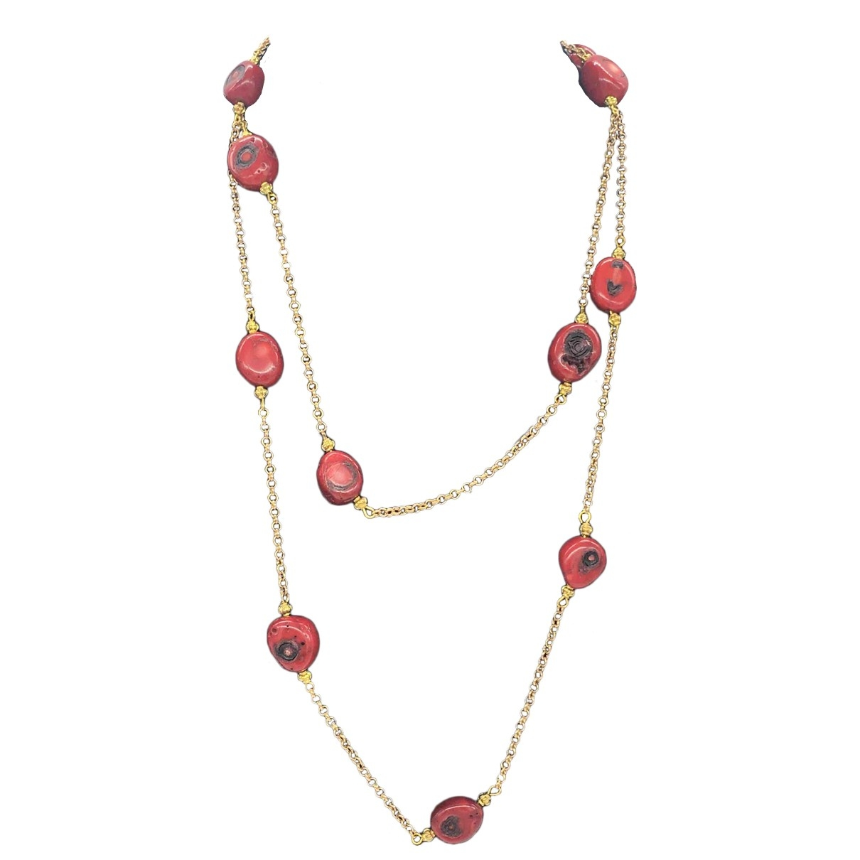 Non Signé / Unsigned \N Red Metal necklace for Women \N