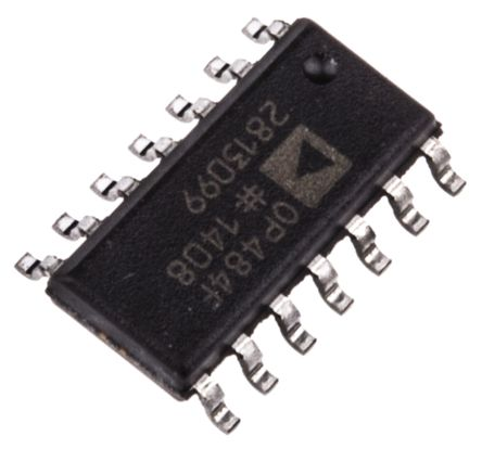 Analog Devices OP484FSZ , Op Amp, RRIO, 3.25MHz, 5 → 28 V, 14-Pin SOIC