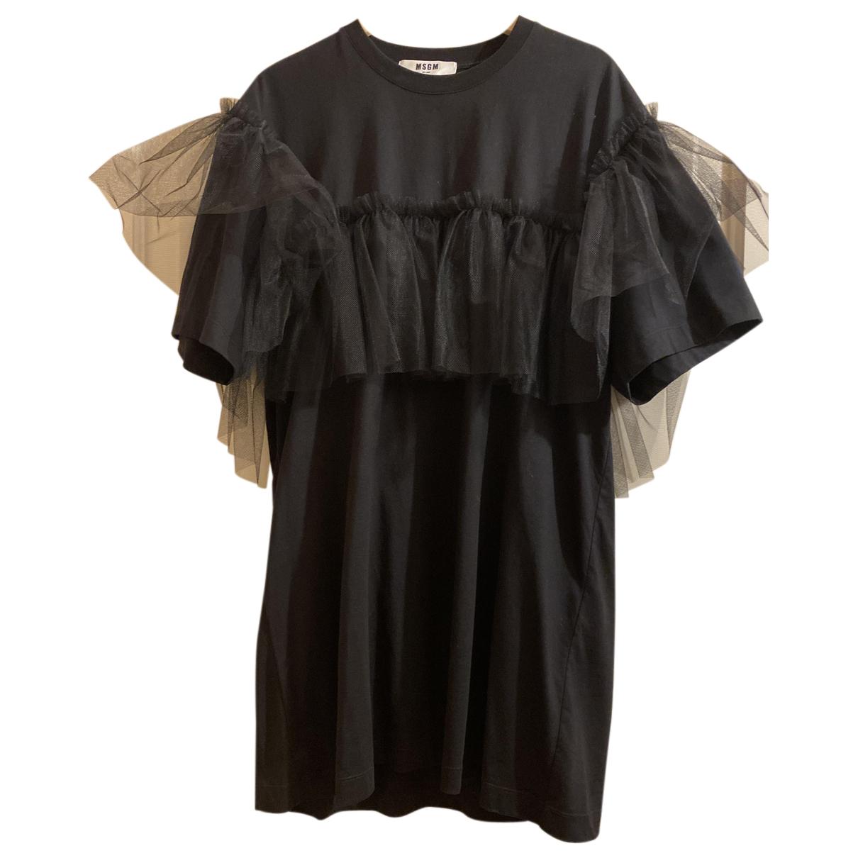 Msgm - Robe   pour femme en coton - noir