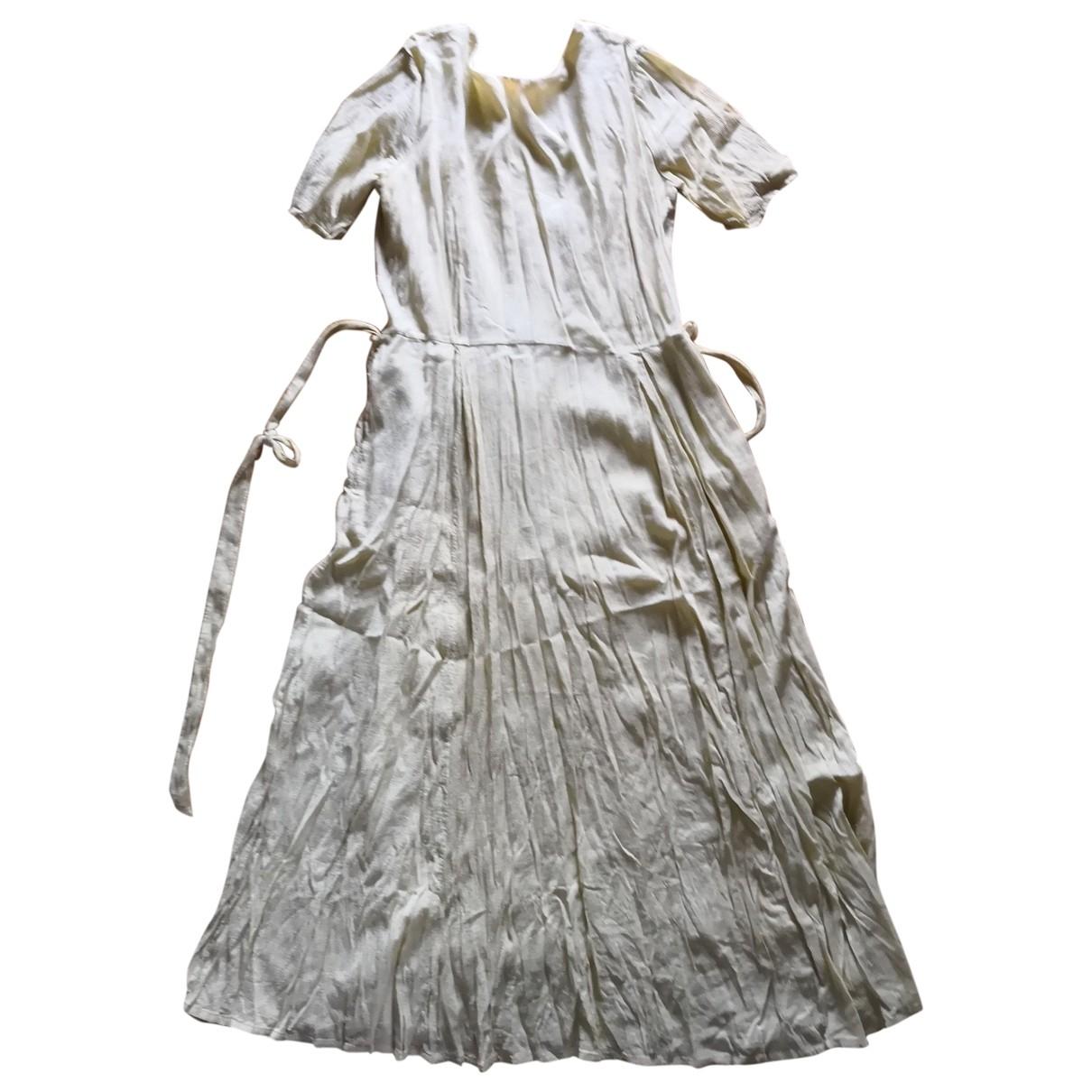 Pomandere - Robe   pour femme en coton - jaune