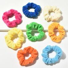 8pcs Simple Plain Scrunchie