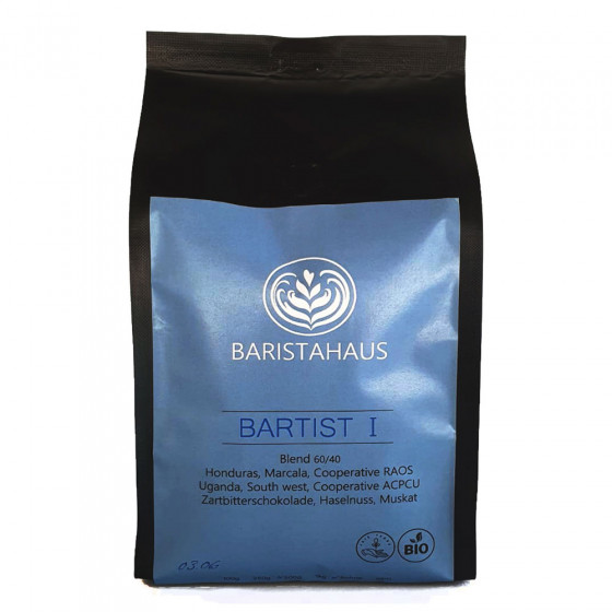 "Kaffeebohnen Baristahaus Kaffeerosterei ""Bartist I - Bio, Fair"", 500 g"