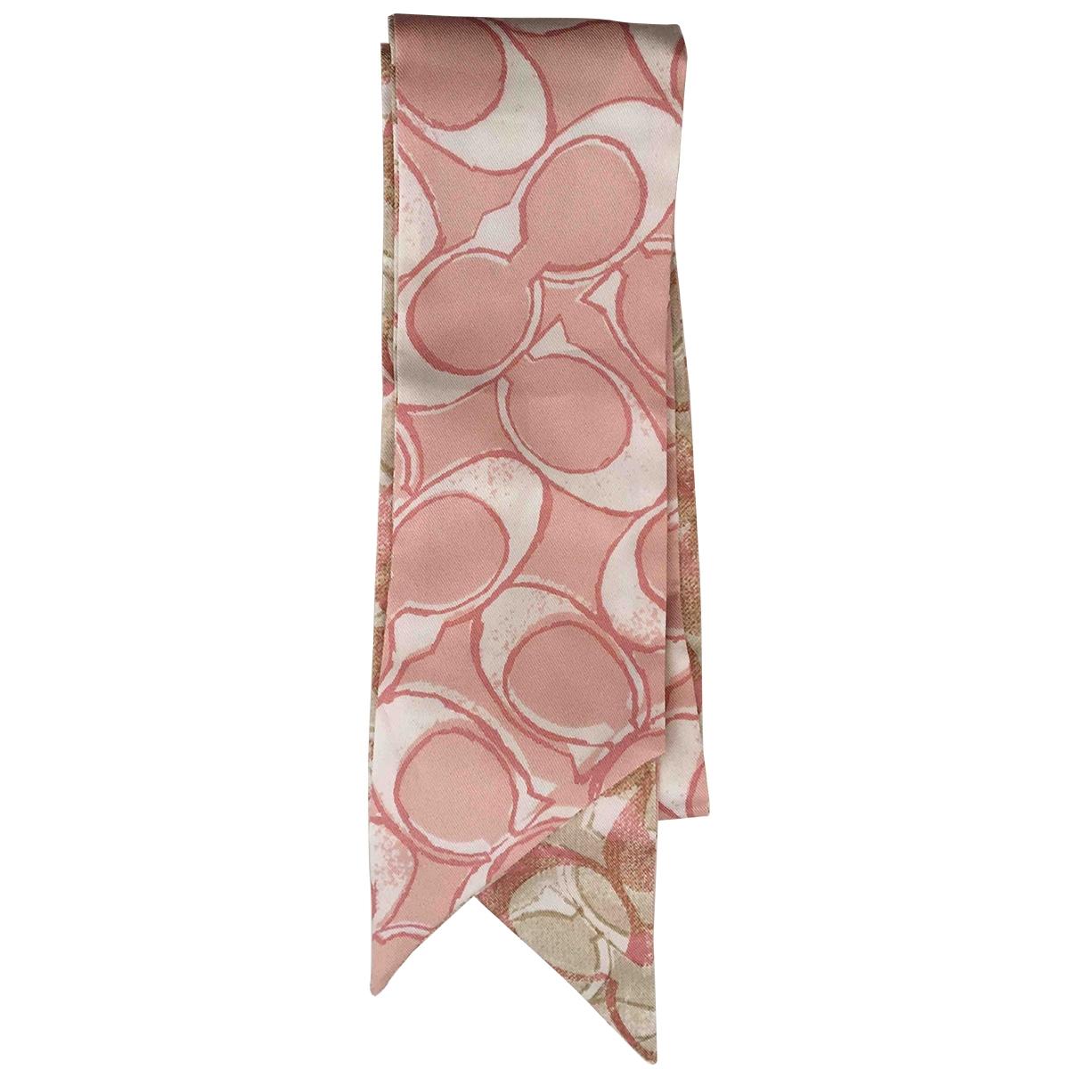 Coach - Foulard   pour femme en soie - rose