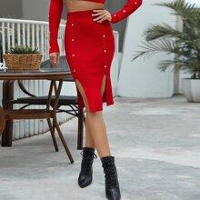 Faldas de Punto Canale Liso Elegante