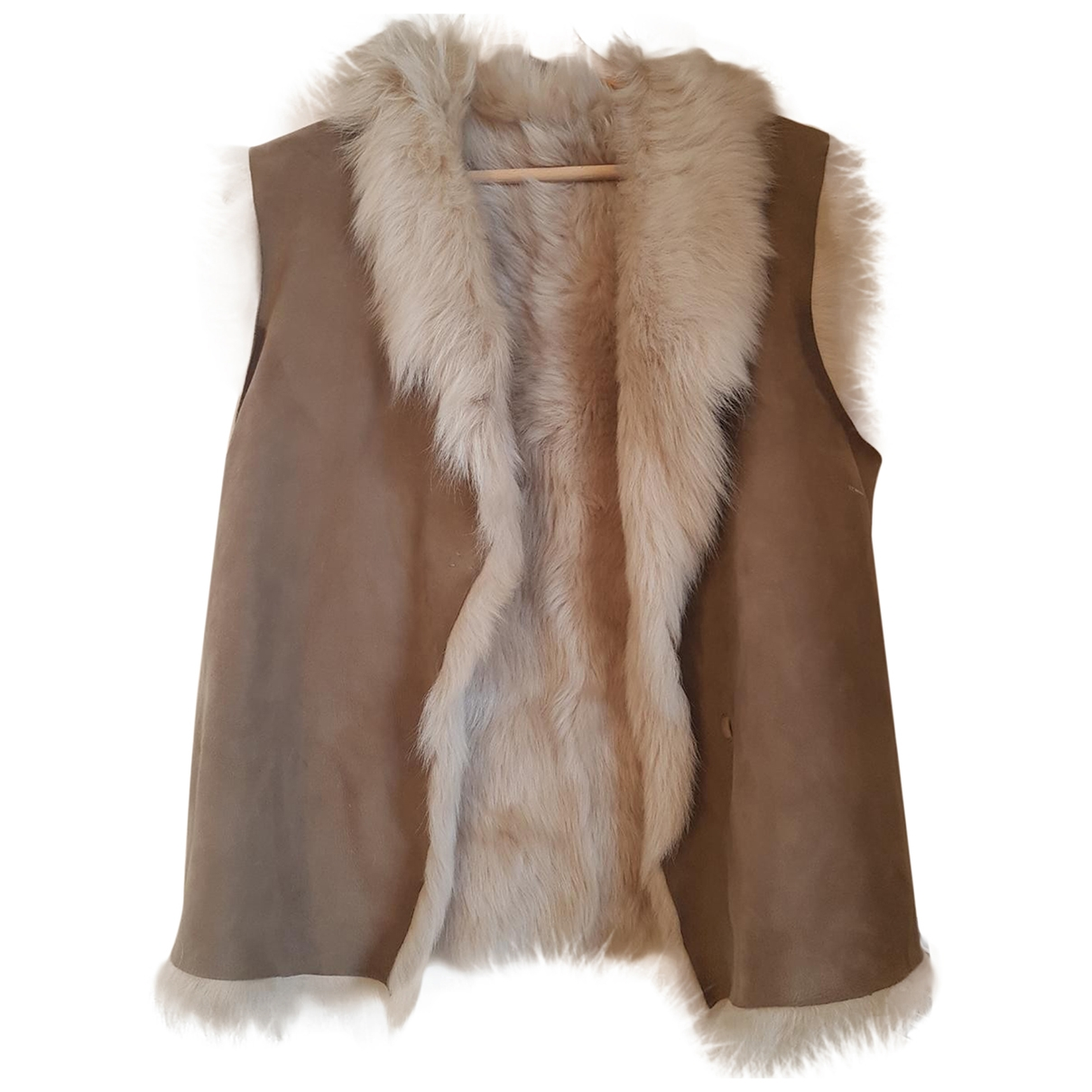 Joseph \N Camel Shearling jacket for Women 36 FR