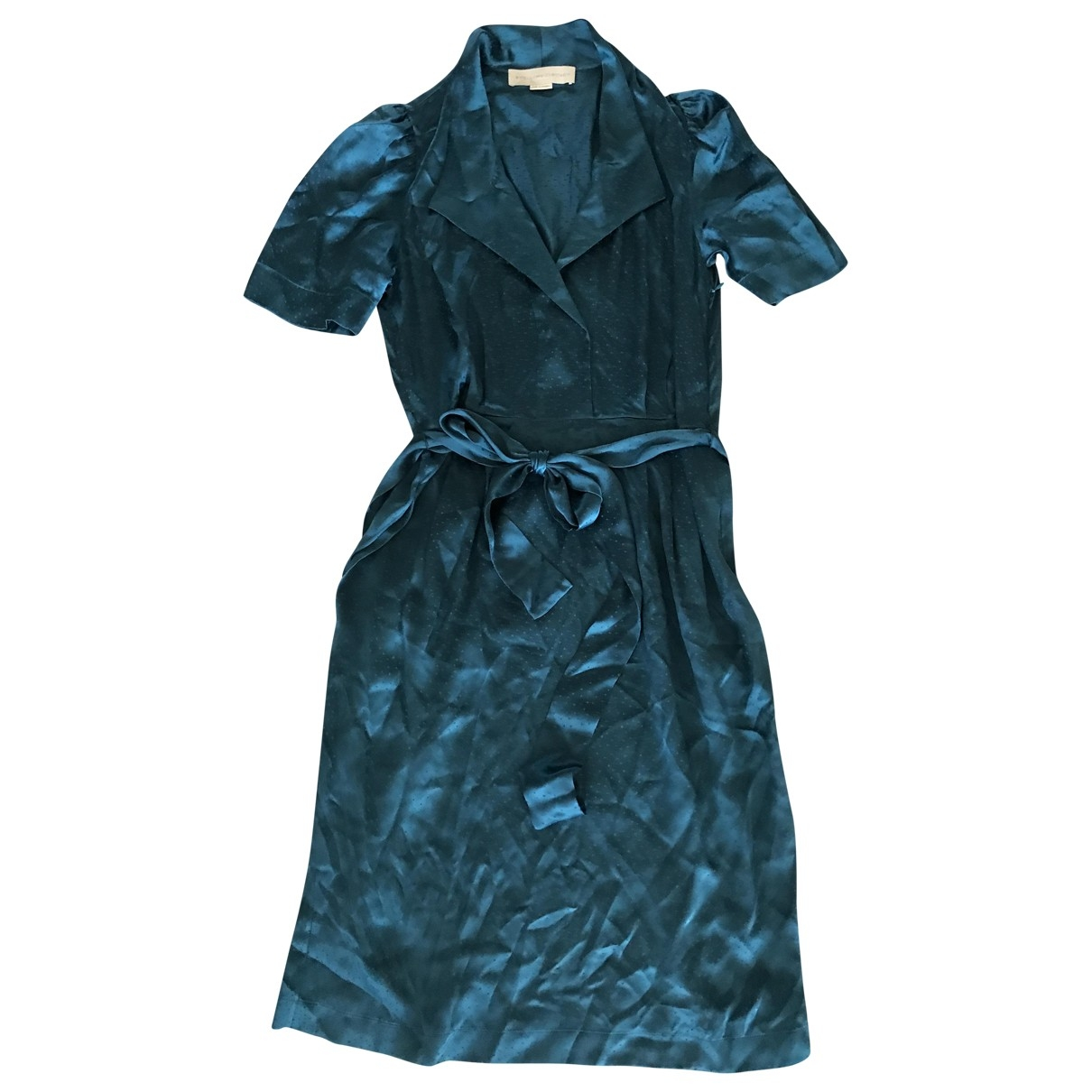 Stella Mccartney - Robe   pour femme en soie - turquoise