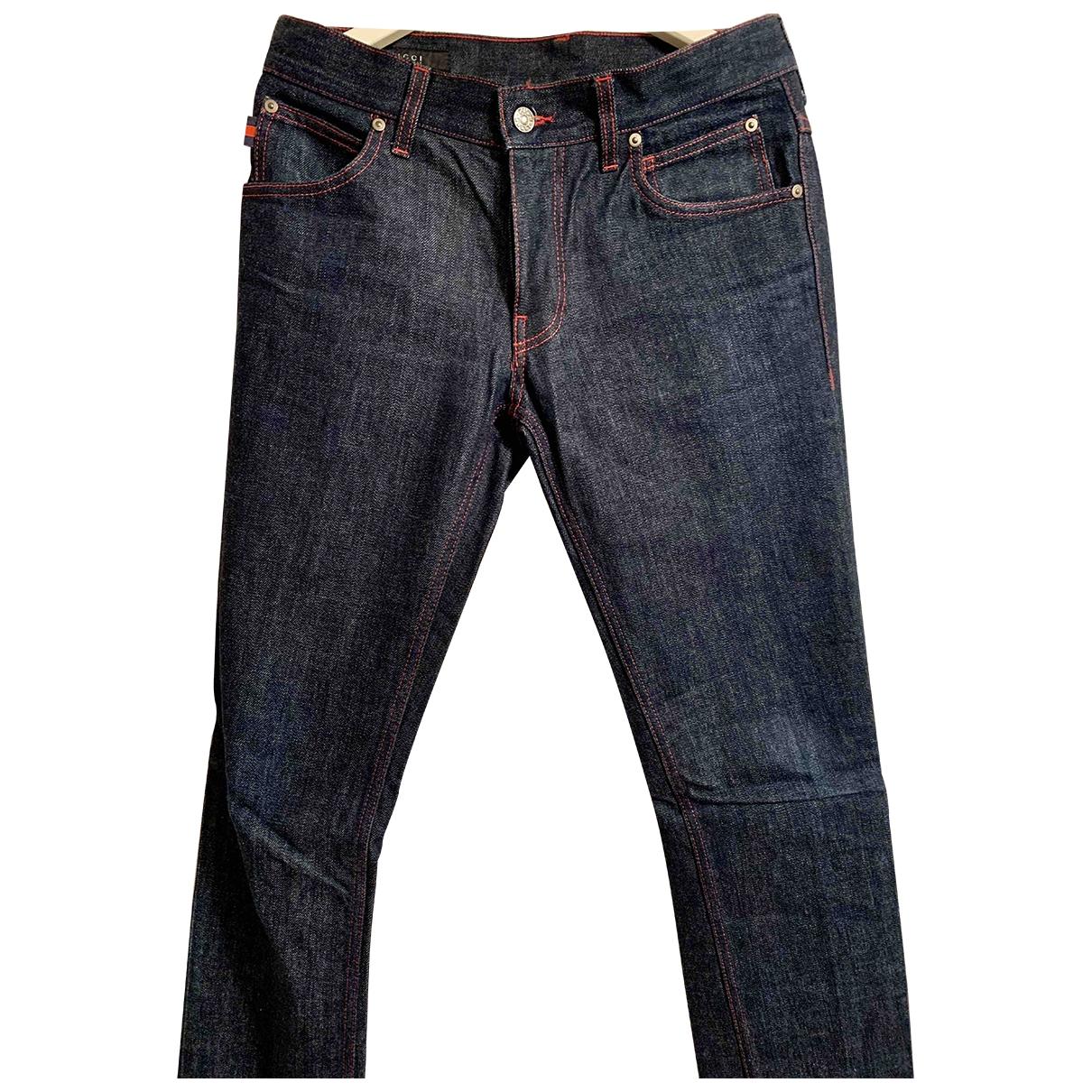 Gucci - Jean   pour homme en coton - marine