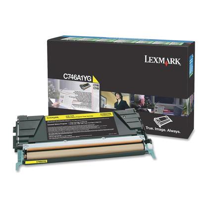 Lexmark C746A1YG cartouche de toner originale du programme retour jaune
