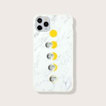 Moon & Marble Print iPhone Case