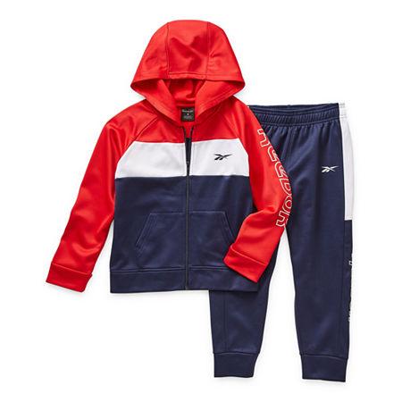 Reebok Little Boys 2-pc. Pant Set, 7 , Red