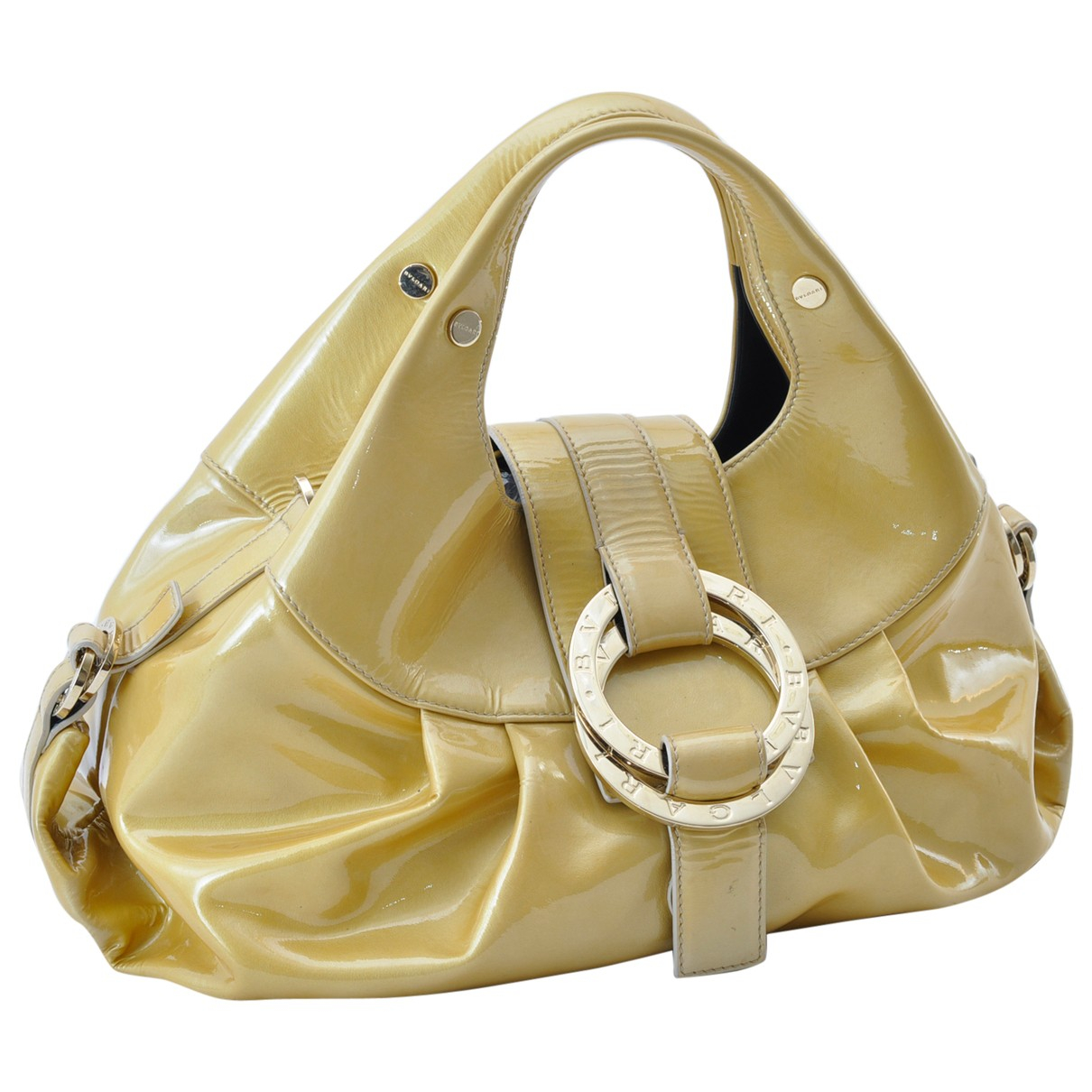 Bvlgari N Yellow Patent leather handbag for Women N