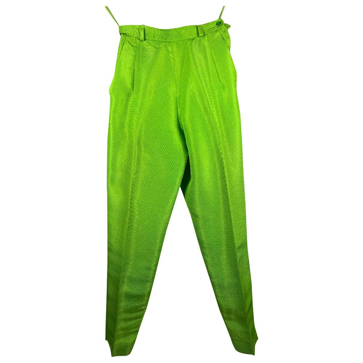 Pantalon zanahoria de Seda Yves Saint Laurent