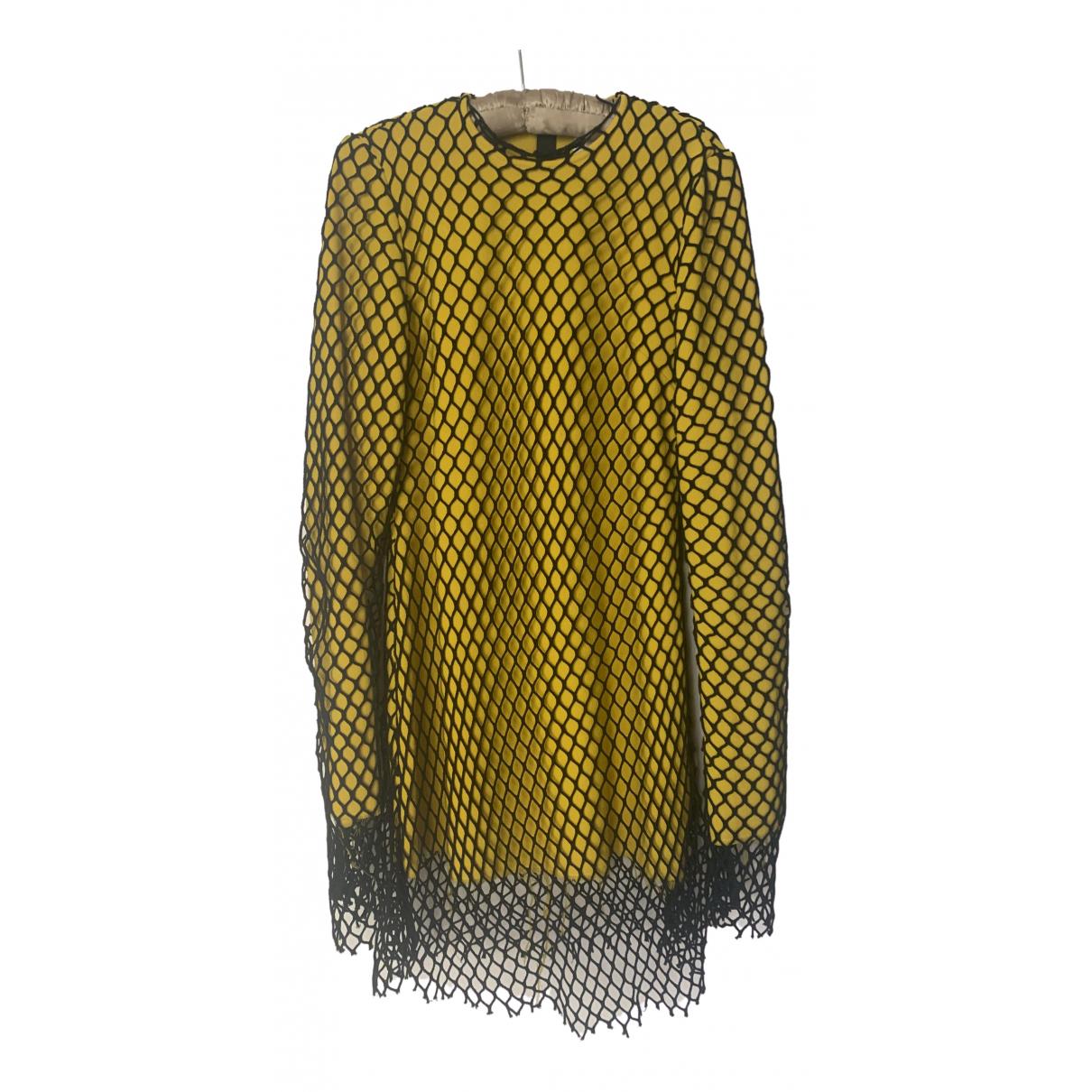 Marques Almeida \N Kleid in  Gelb Wolle