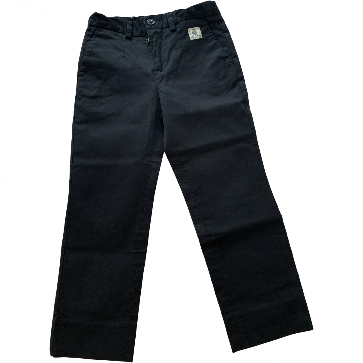 Dolce & Gabbana \N Black Cotton Trousers for Kids 3 years - up to 98cm FR