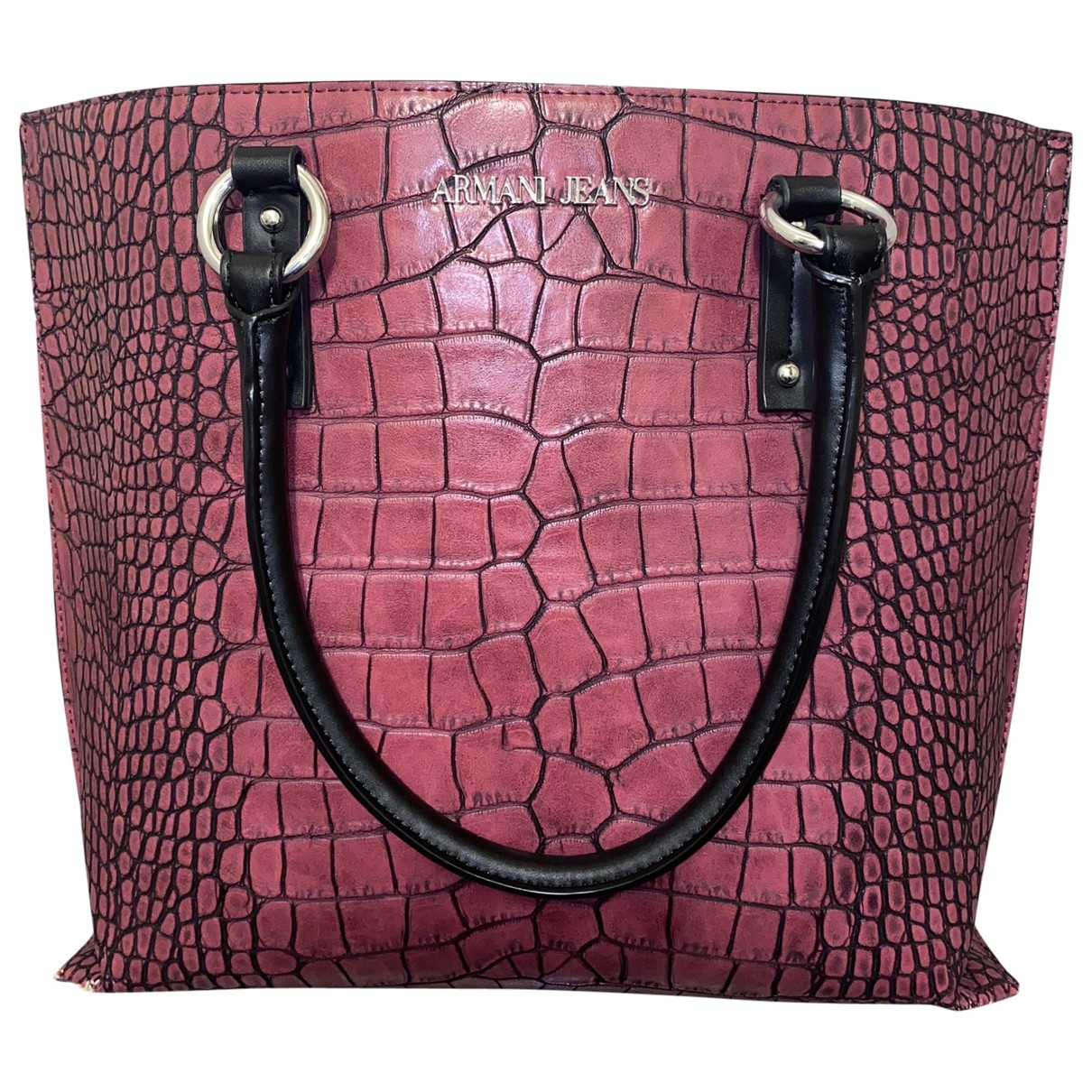 Armani Jeans \N Handtasche in  Bordeauxrot Polyester