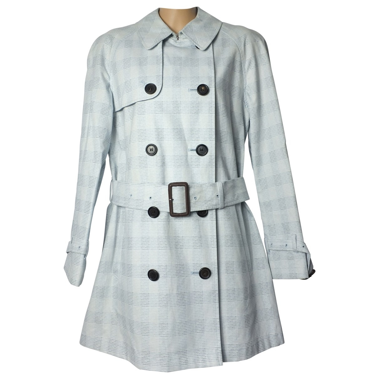 Aquascutum \N Blue Cotton Trench coat for Women 8 UK