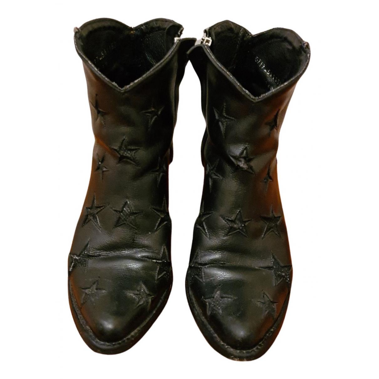 Mexicana \N Stiefel in  Schwarz Leder