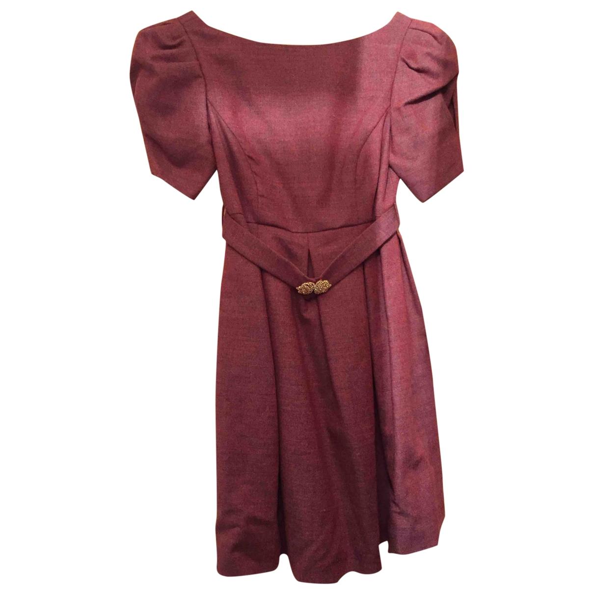 Miu Miu \N Burgundy Wool dress for Women 36 FR