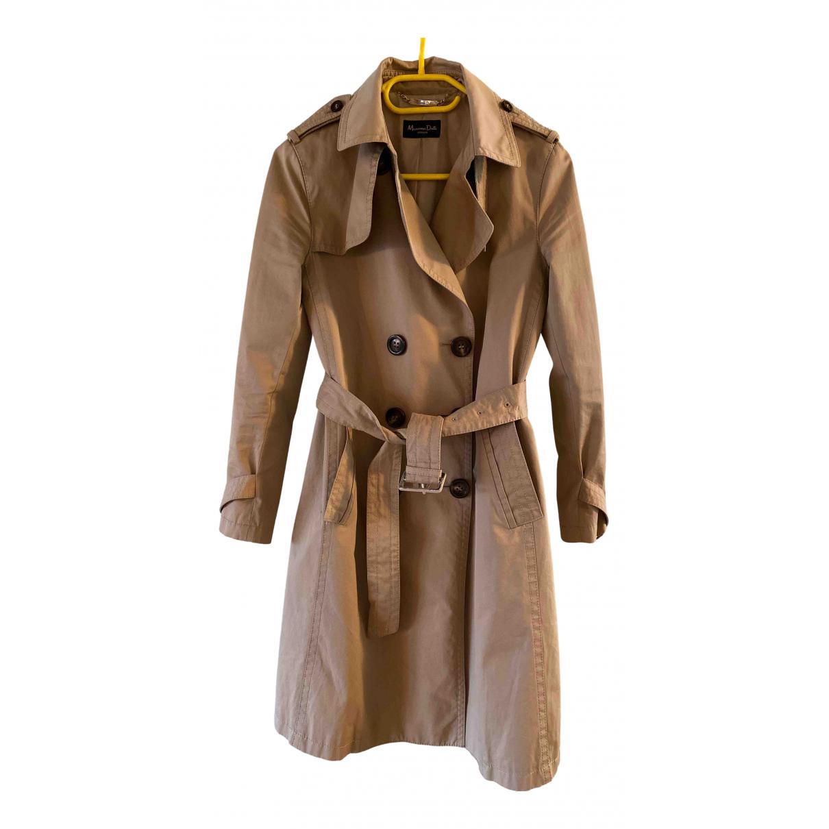 Massimo Dutti - Trench   pour femme en coton - beige