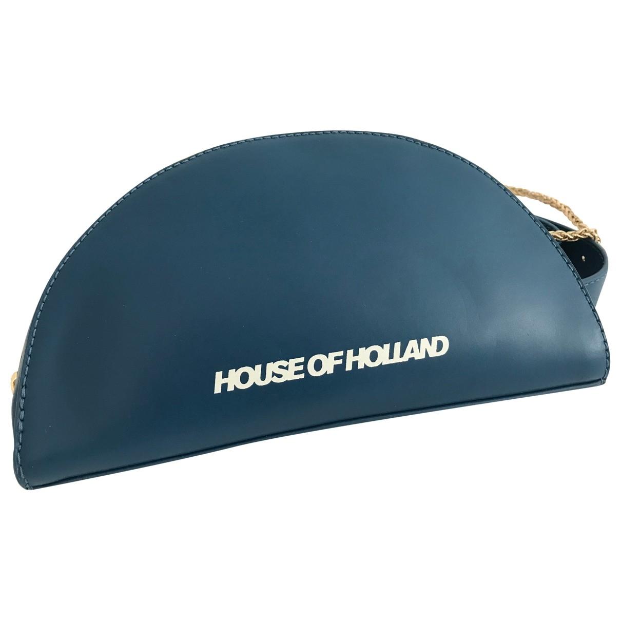 House Of Holland \N Handtasche in  Blau Leder