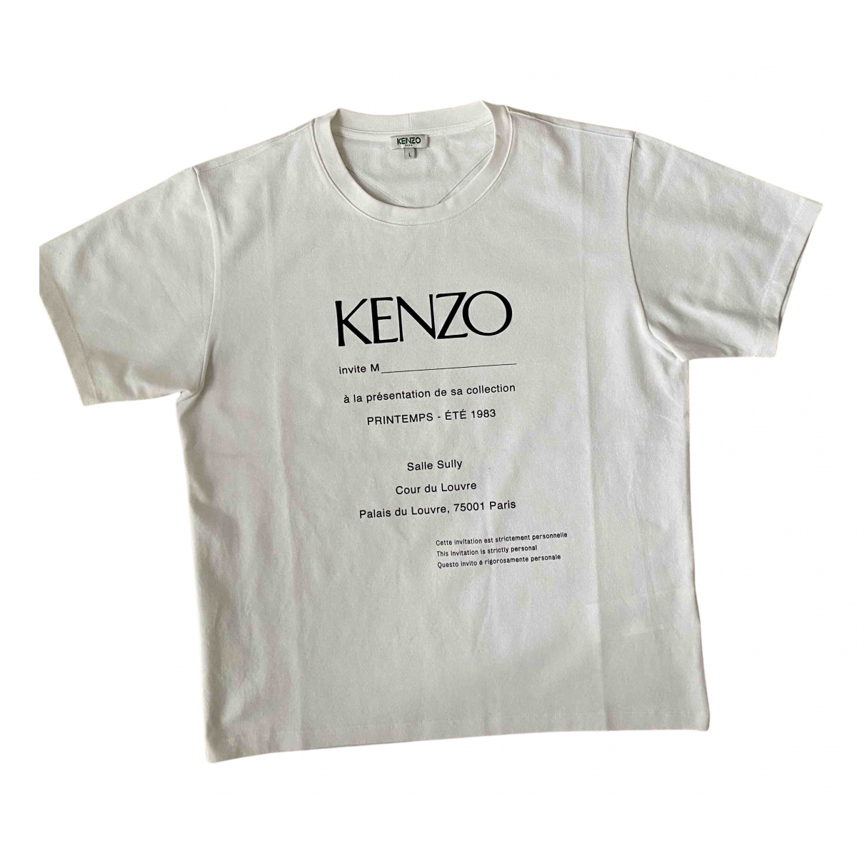 Kenzo N White Cotton T-shirts for Men L International