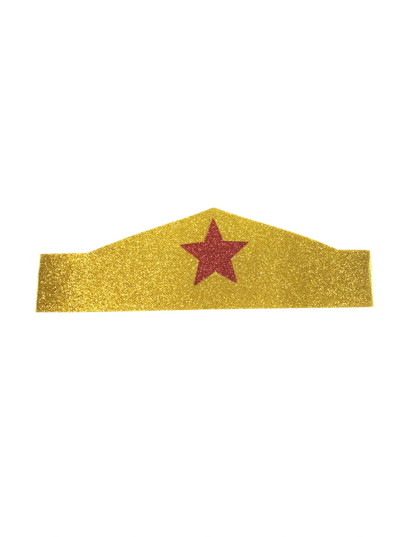 Kostuemzubehor Stirnband gold mit Stern