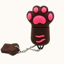 1pc Silicone Cat Claw Design USB Flash Drive