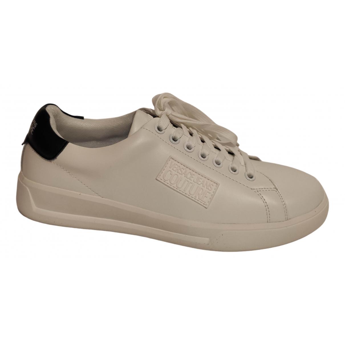 Versace Jean - Baskets   pour homme en cuir - blanc