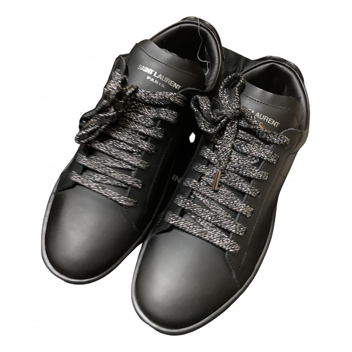 Saint Laurent - Baskets SL/01 pour homme en cuir - noir