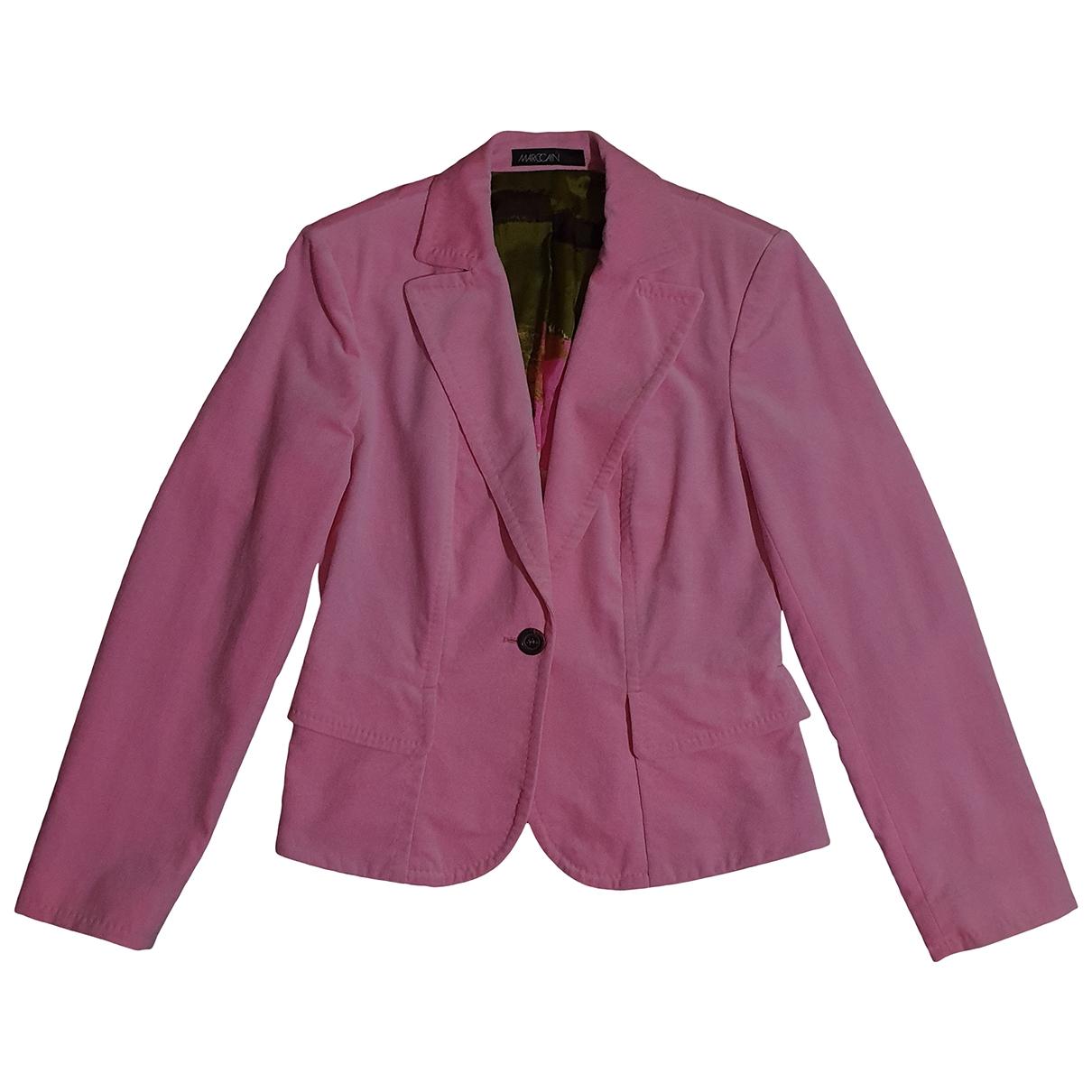 Marc Cain \N Pink Cotton jacket for Women M International