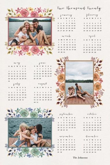 Calendar 12x18 Adhesive Poster, Home Décor -The Love Of Joy