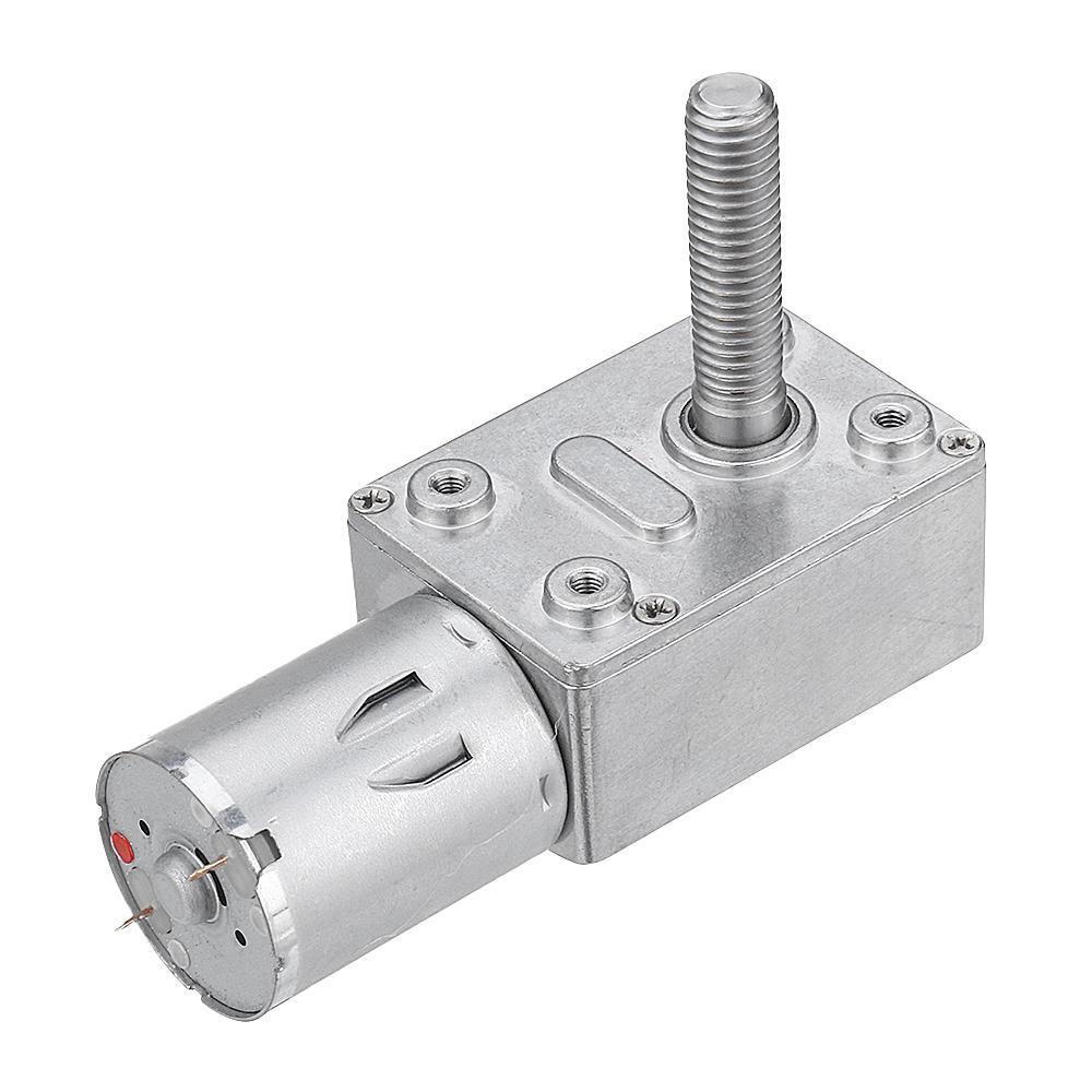 Machifit JGY370 DC 24V Self-locking Worm Gear Motor 10/30/90/150RPM Gear Turbine Reduction Motor