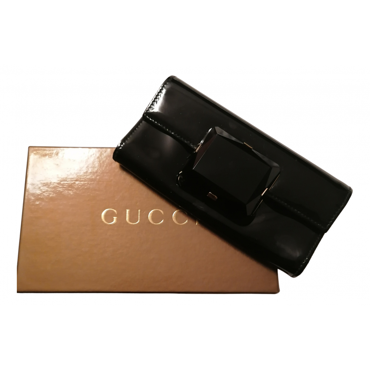 Gucci \N Clutch in  Schwarz Lackleder