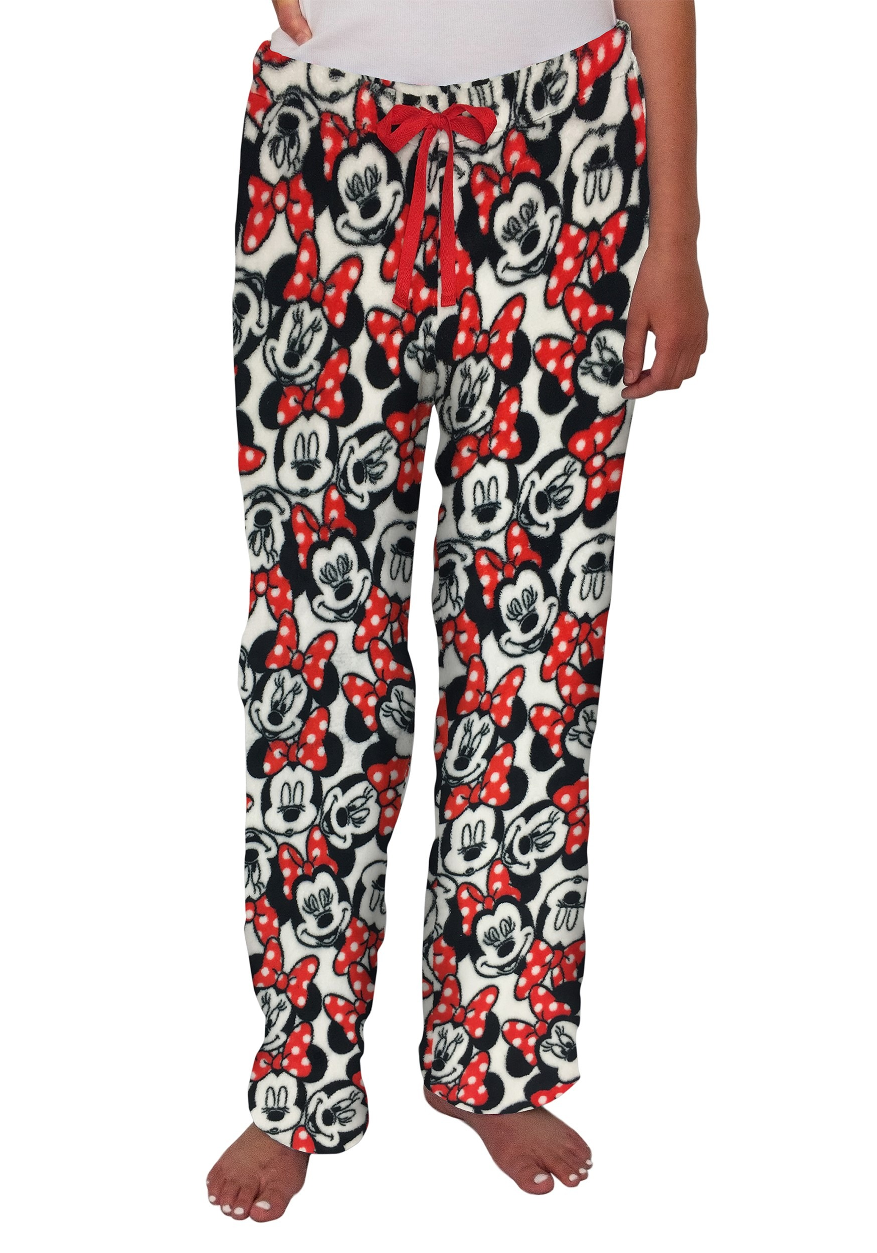 Womens Minnie Mouse White/Red Soft Lounge Pants