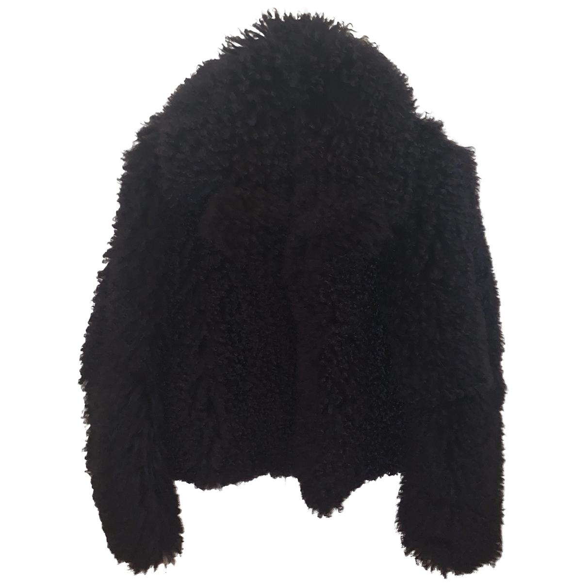 Hugo Boss - Manteau   pour femme en agneau de mongolie - marine