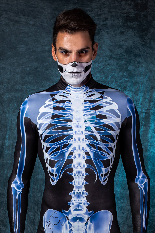 Skeleton Halloween Costume Men - Mens Halloween Skeleton Bodysuit - Badinka