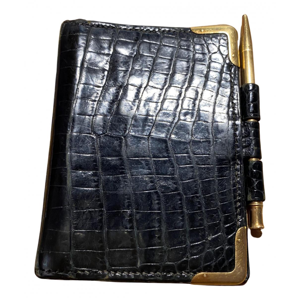 Hermes - Petite maroquinerie   pour femme en crocodile - noir