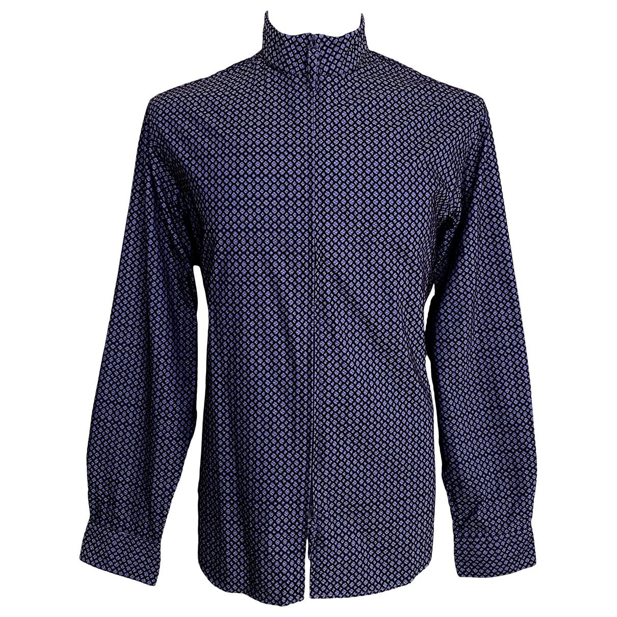 Giorgio Armani \N Navy Cotton Shirts for Men XXL International