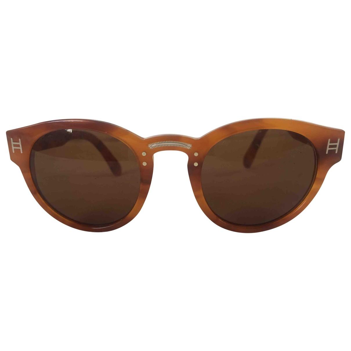 Amenapih \N Camel Sunglasses for Women \N